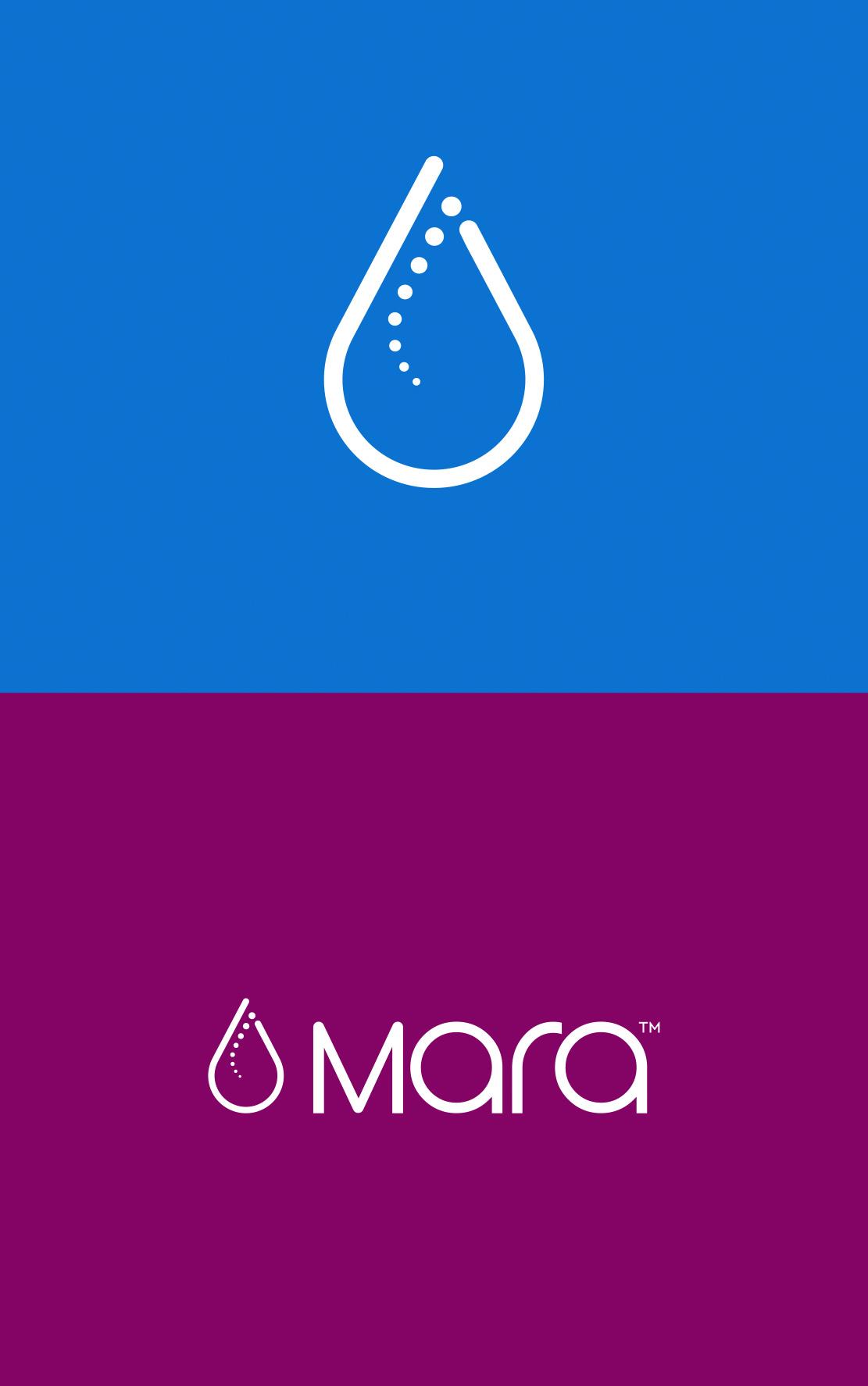 Mara Logo Mark and Logo on White