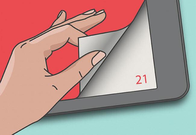 Virtual page turner illustration
