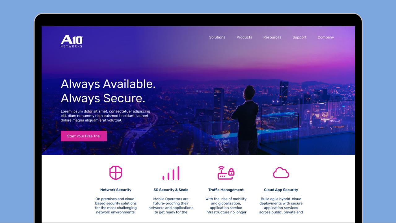 A10 Website