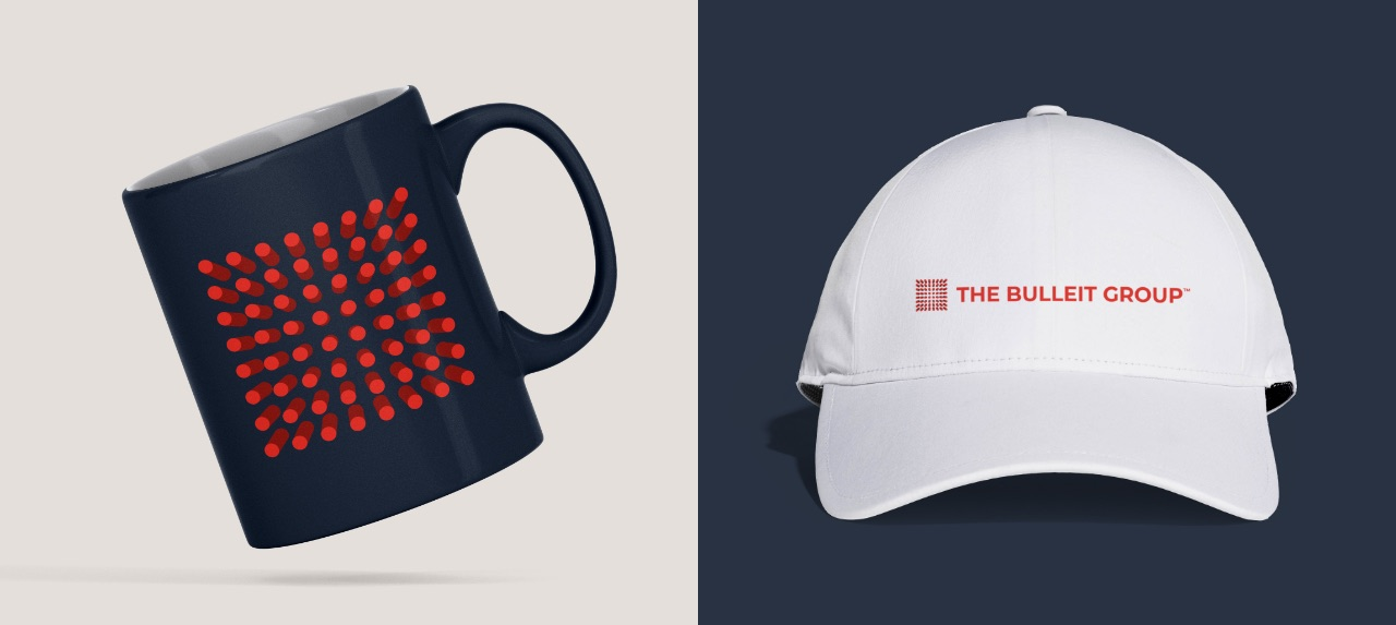 Bulleit Group branded mug and cap