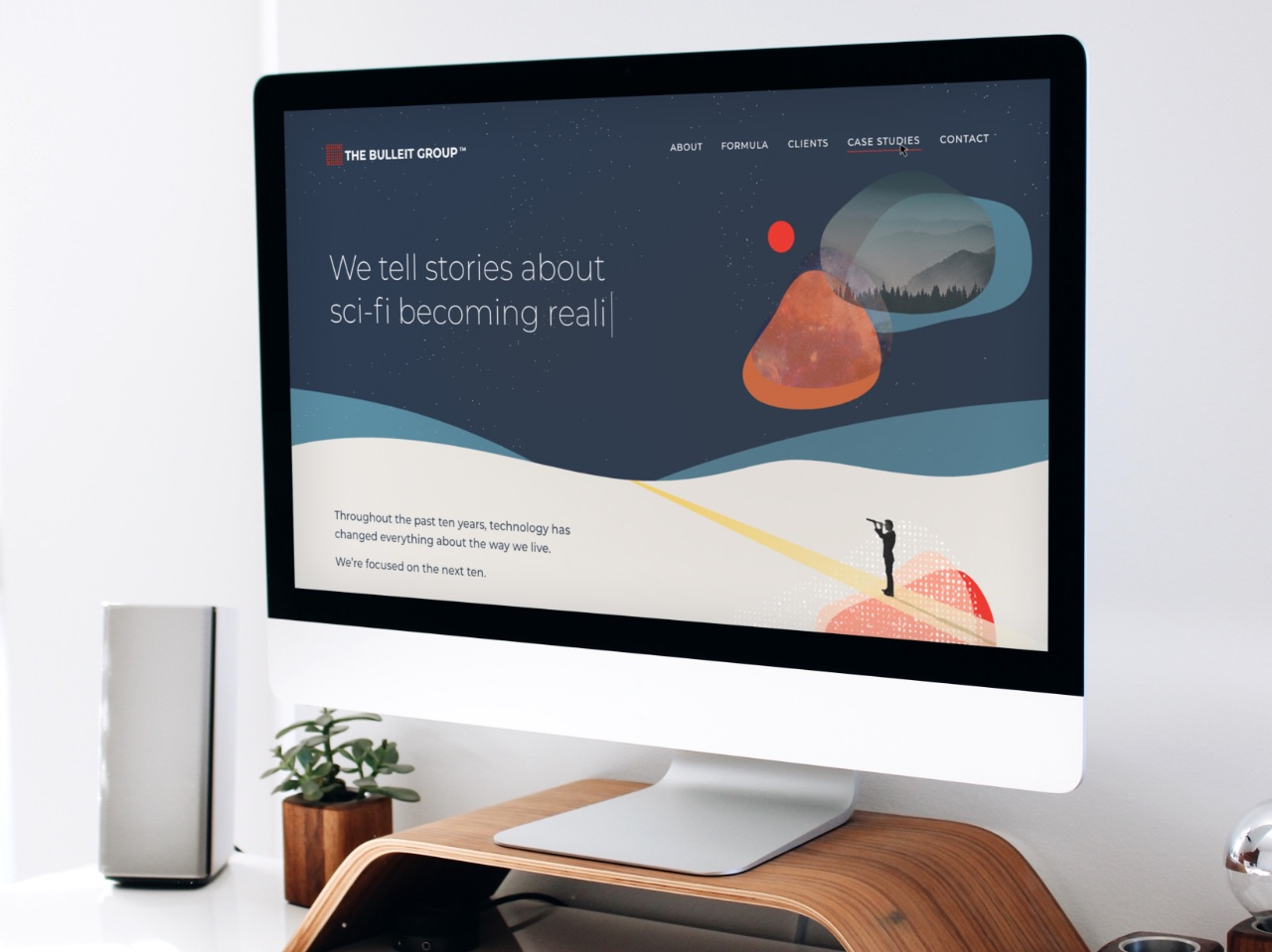 Bulleit Group Website Homepage on Desktop