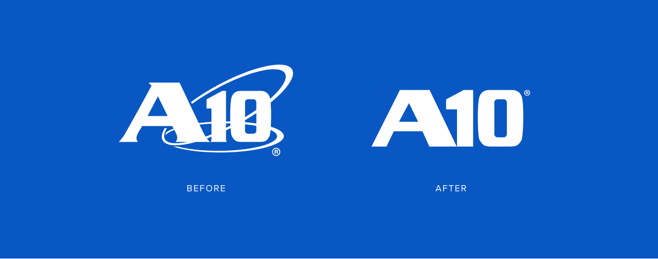 A10 Logo Before and After