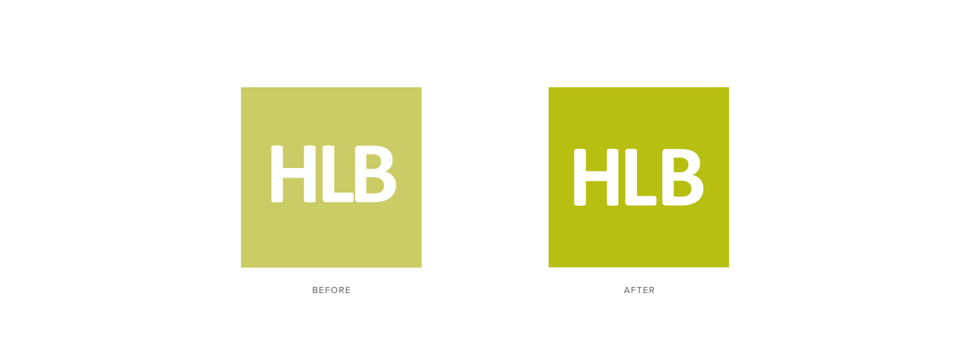 HLB Logo Before and After