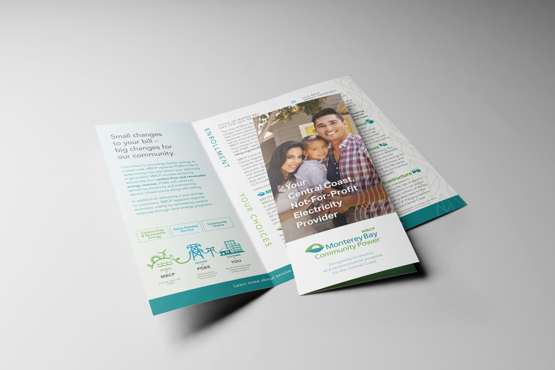 Monterey Bay Community Power Trifold Brochure Design