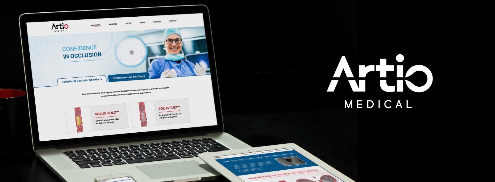 Artio Medical Website Header