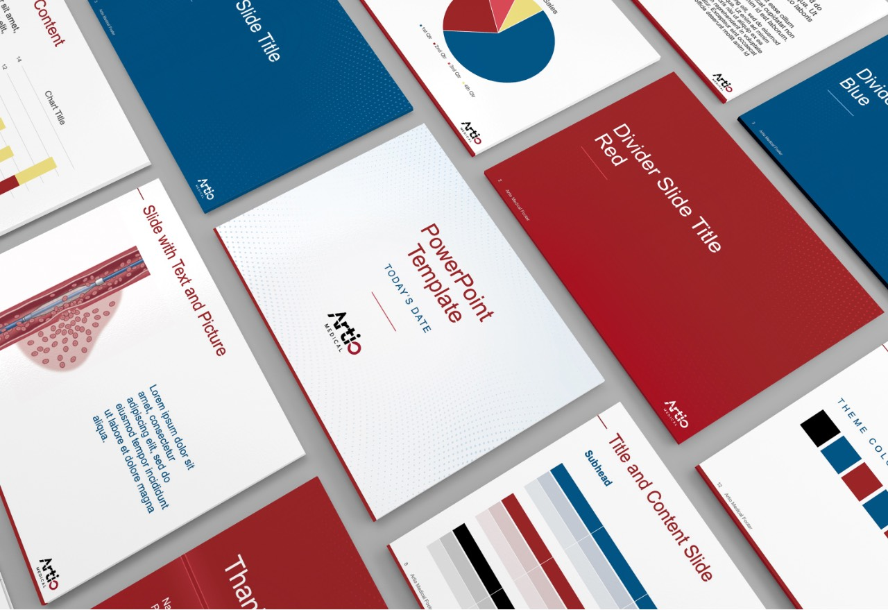 Artio Medical PowerPoint Design
