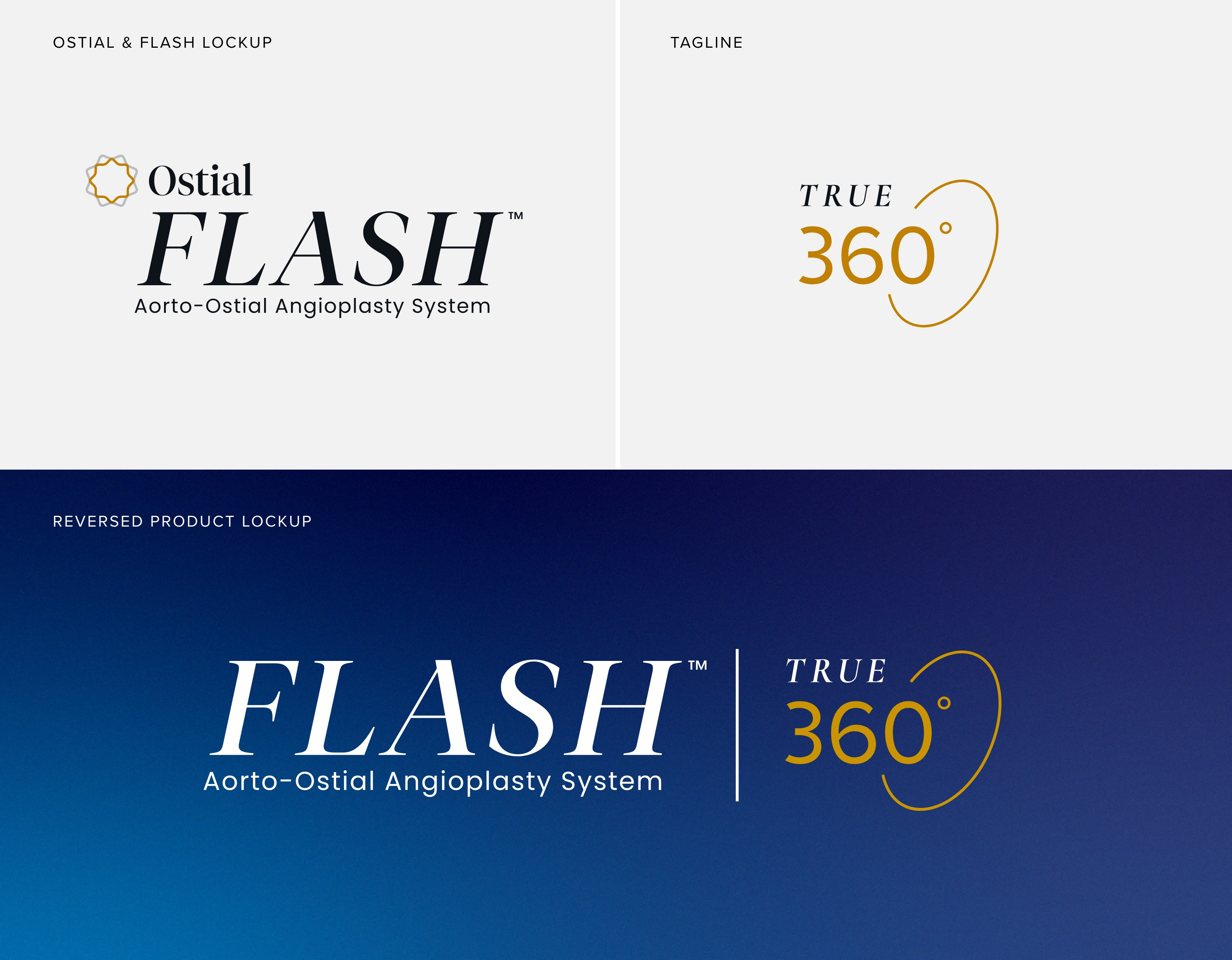 Ostial FLASH Product Logo Design