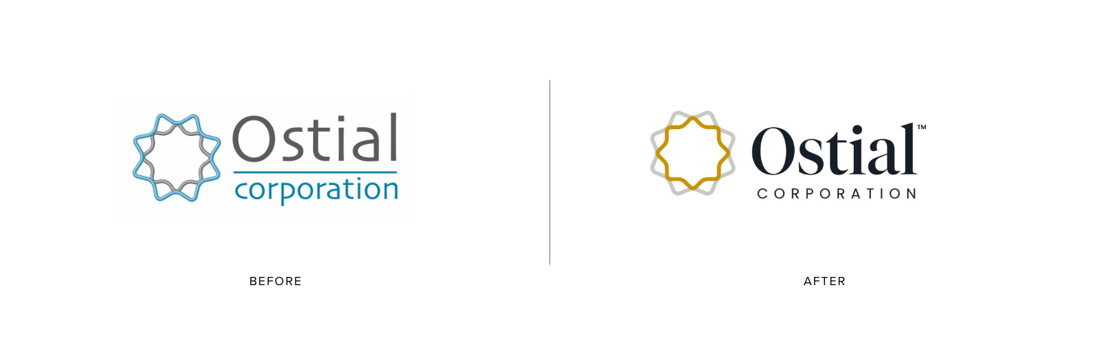 Ostial Medical Logo Refresh - Before and After