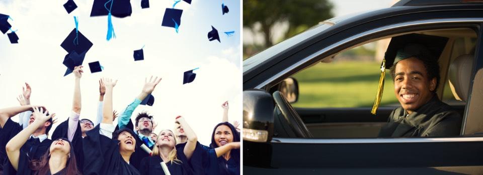 In-person graduation vs drive-by graduation