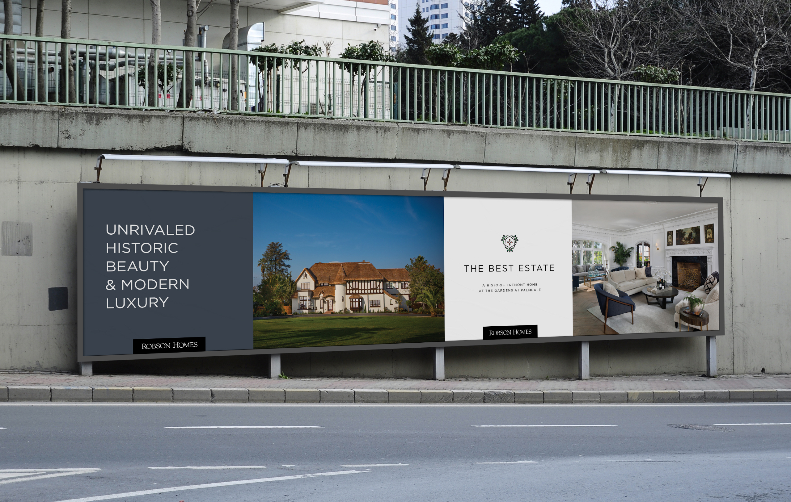 The Best Estate billboard