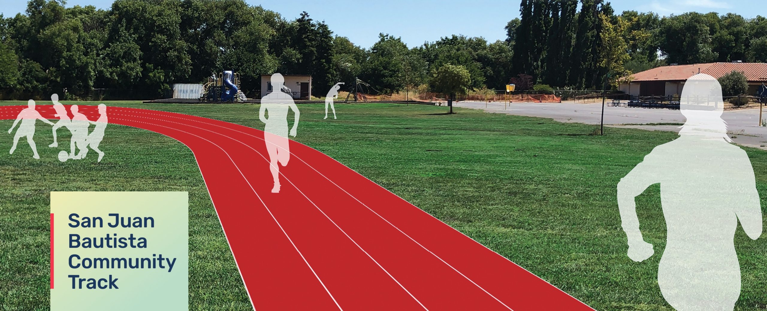 Running track rendering with logo