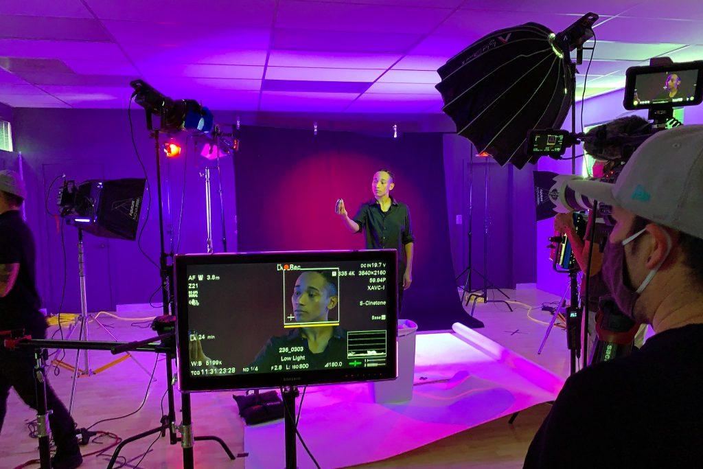 Behind the Scenes at Yoom Video Shoot