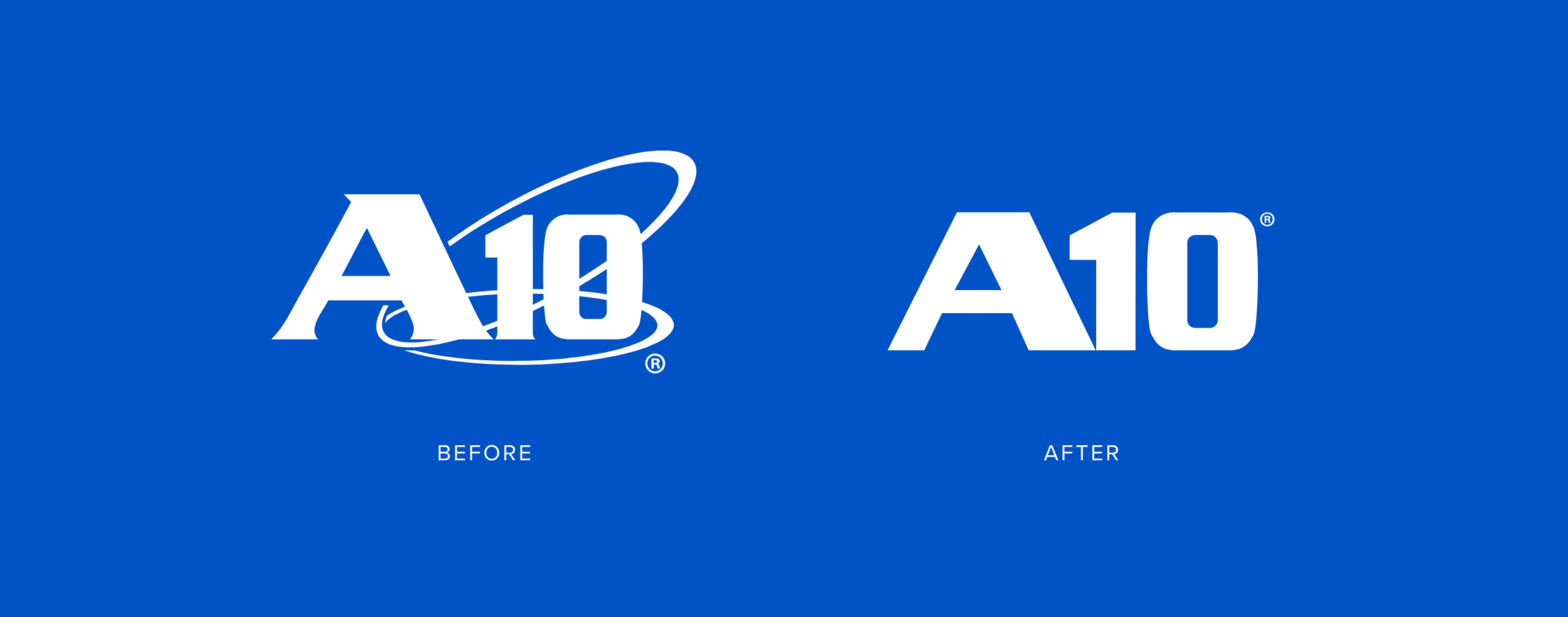 A10 Networks Logo Before and After