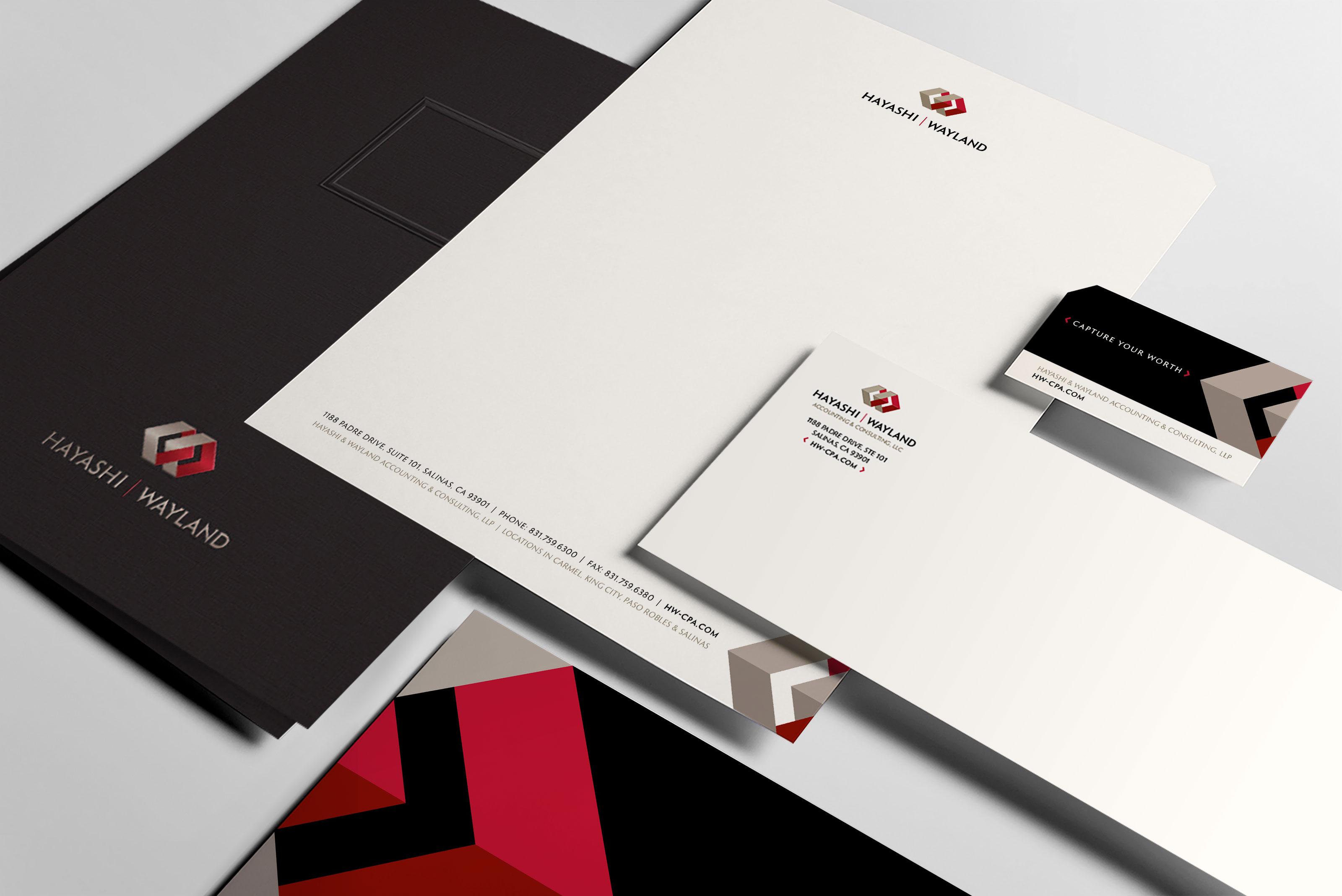Hayashi Wayland Accounting Firm Stationery Design