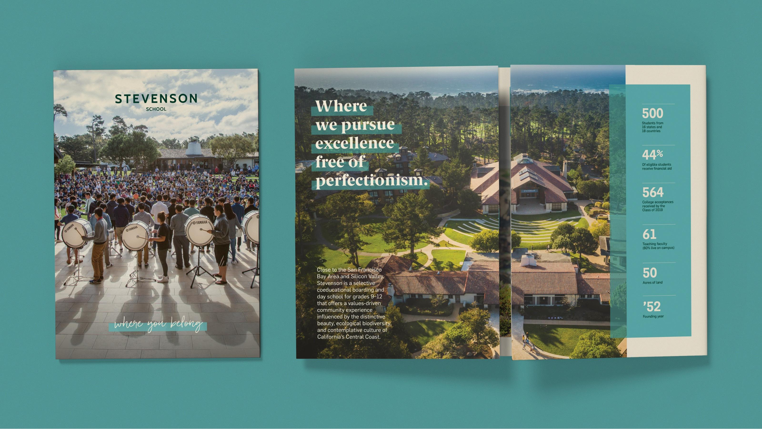Stevenson School Travel Brochure Design - Cover