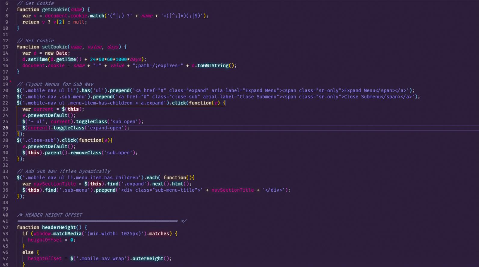 Web Development Code