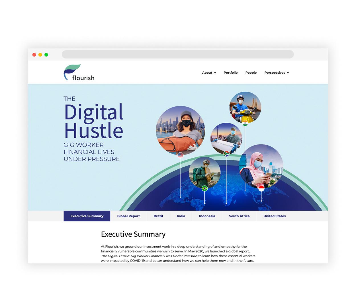 Flourish Ventures Microsite