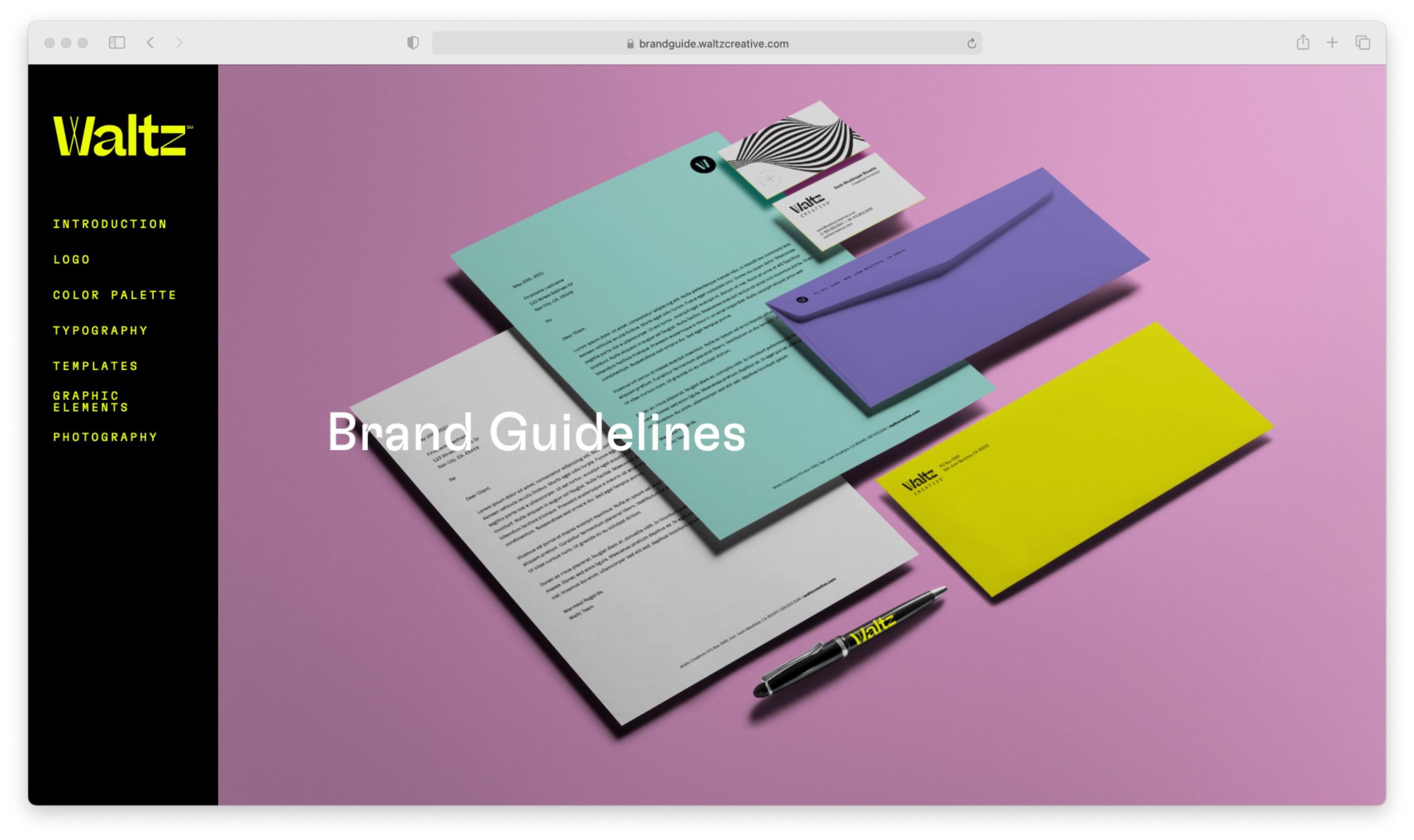 Online Brand Guideline