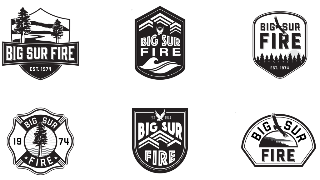 Big Sure Fire logo exploration