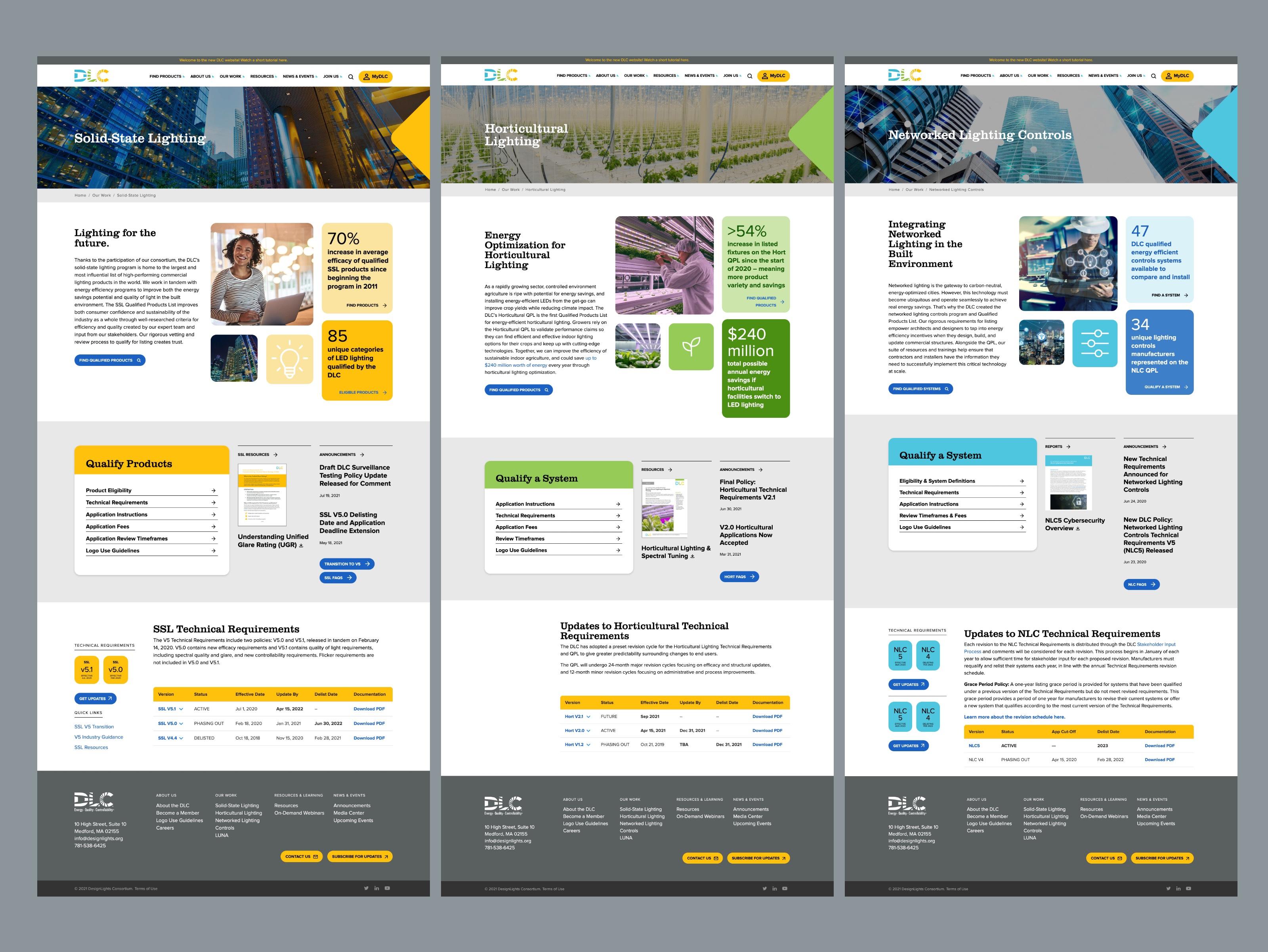 DLC Website Landing Page Design