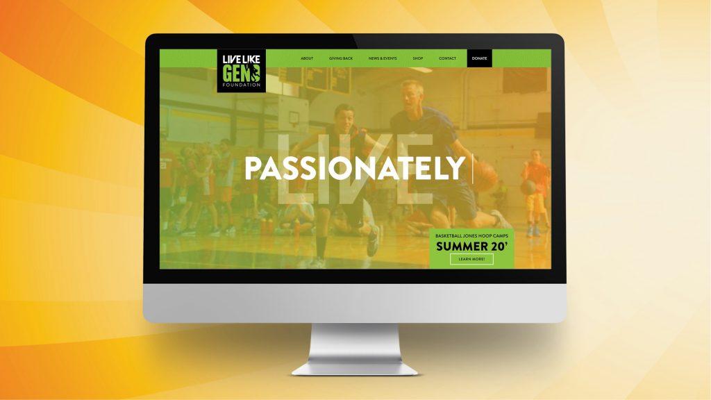 Live Like Geno Foundation - Website Design on Desktop