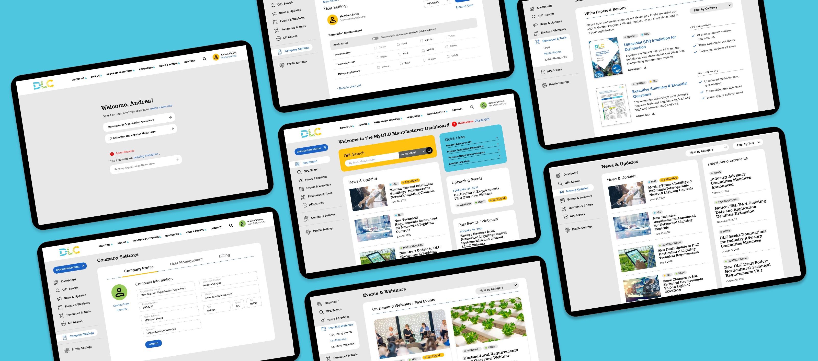 MyDLC Portal Design