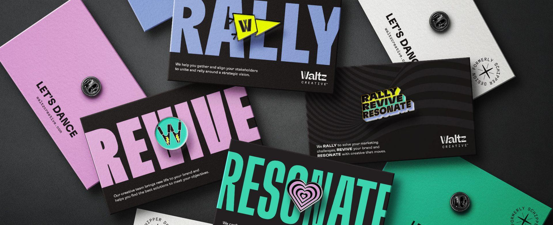 Waltz Enamel Pins with Cards