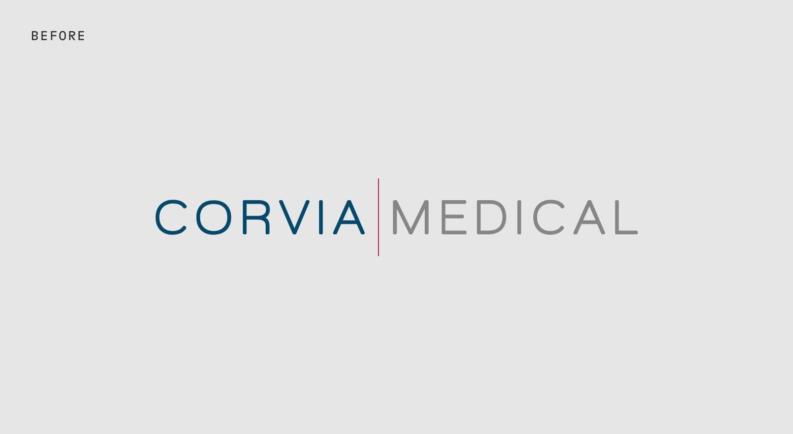 Corvia Medical Logo - Before