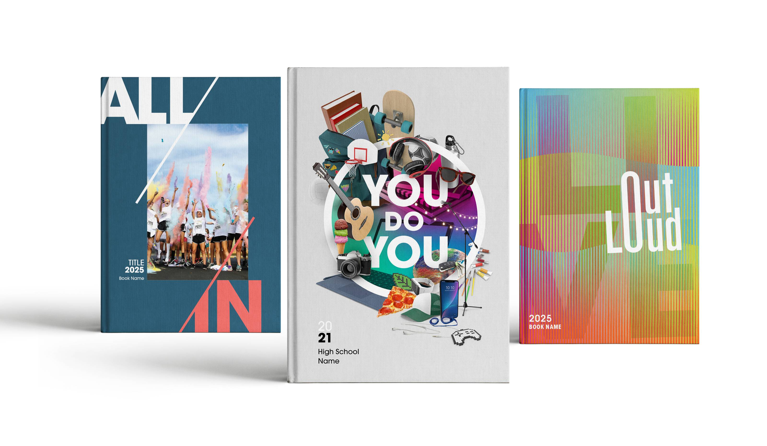 3 Cover designs mocked up