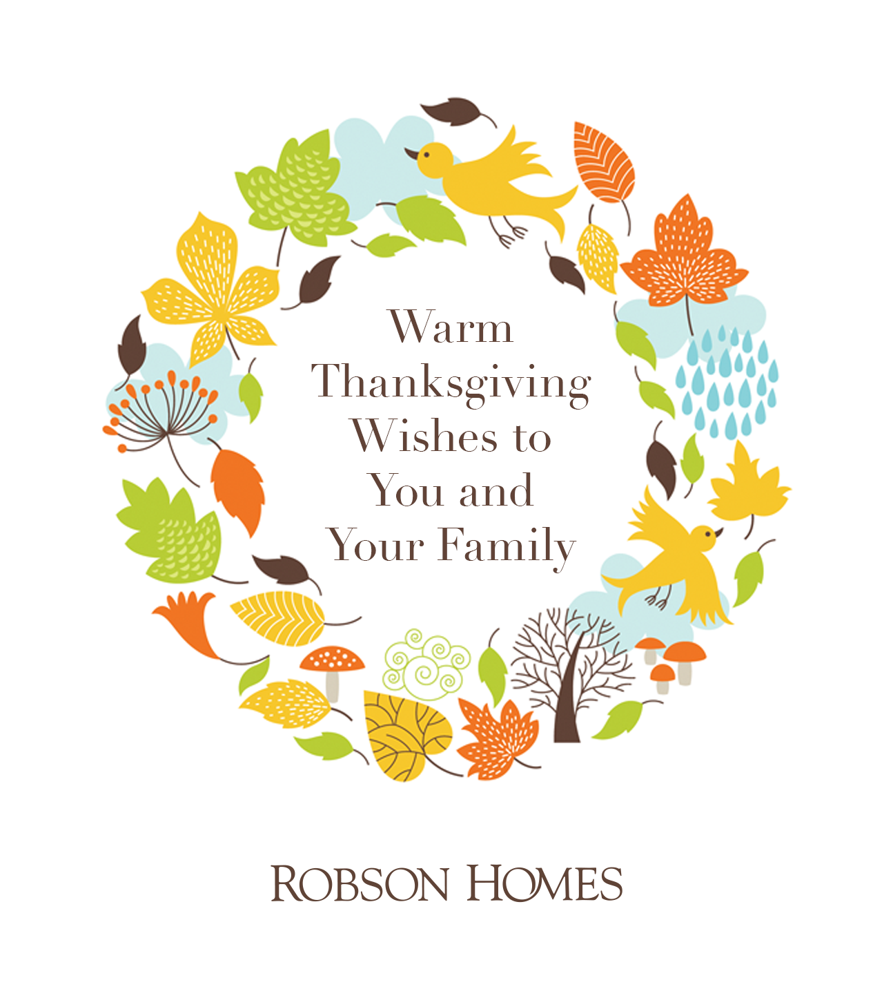 Robson Homes Thanksgiving Email 2015