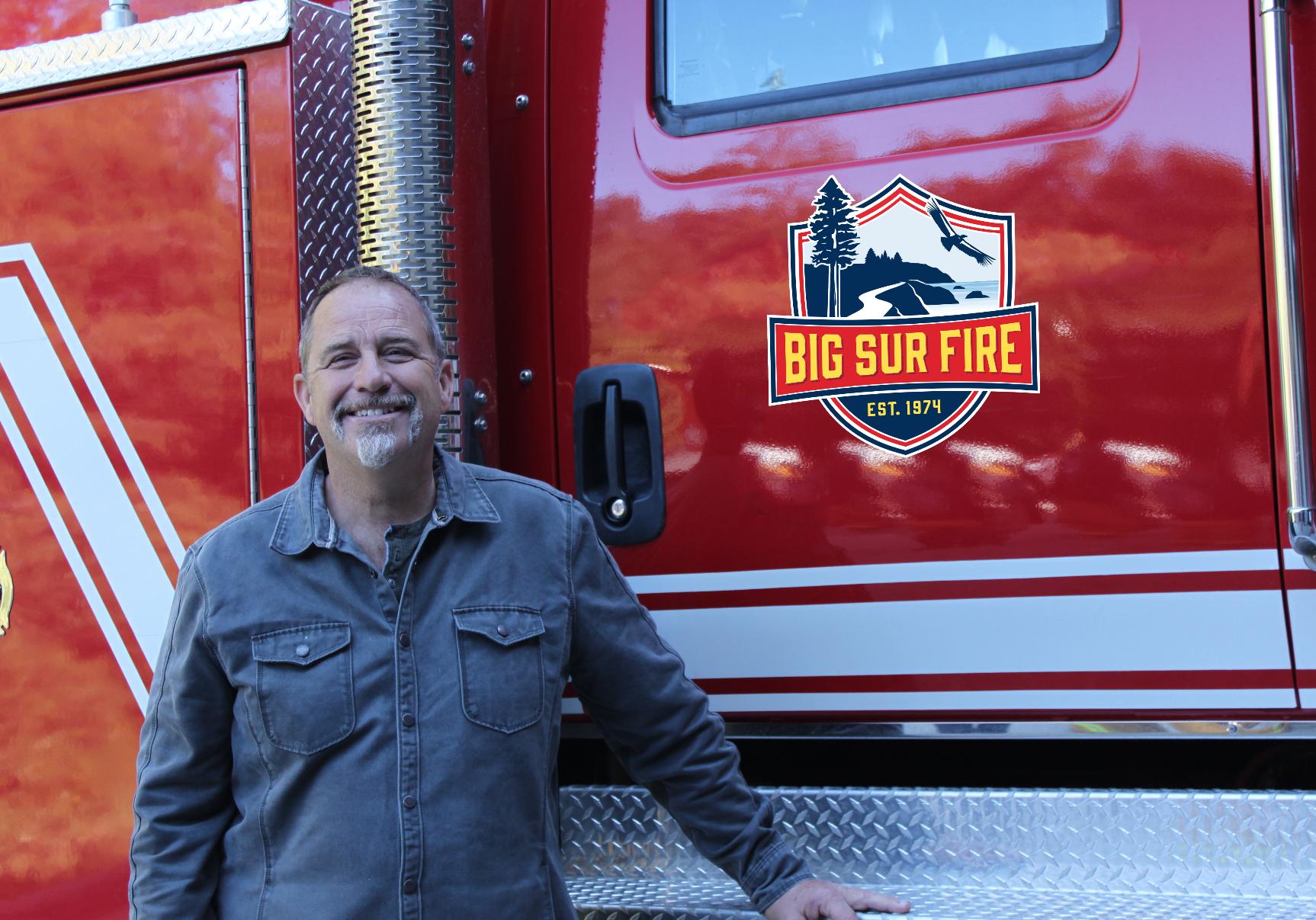 Big Sur Fire logo on truck